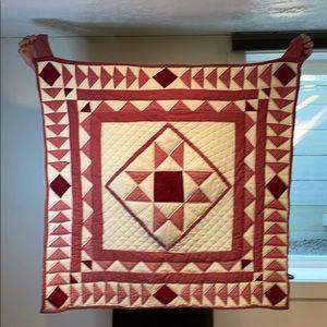 Americana Handmade Triangle Quilt Hanging Wall Art